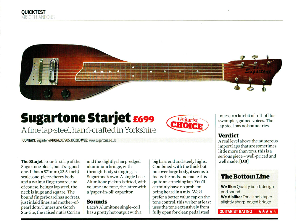 Starjet Guitarist Magazine Review December 2011